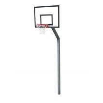 Konstrukcija za košarko, enocevna za tablo 120x90cm