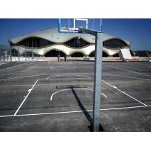 Zarisovanje črt športnih igrišč, košarka, nogomet, rokomet