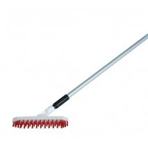 Krtača za čiščenje teniških linij, PVC ščetine, ALU ročaj